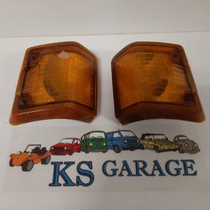 Knipperlicht set Oranje rechts- en linksvoor voor VW Transporter 79 ->92